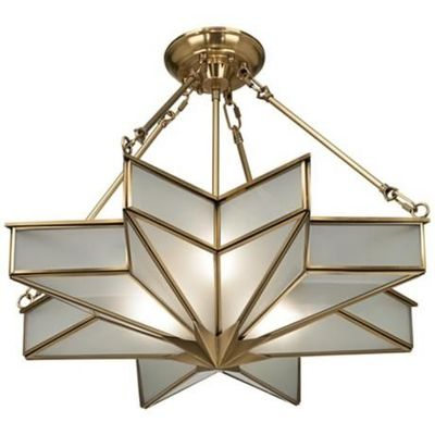 Glass star 24 34 wide antique brass pendant light bath ideas glass star 24 34 wide antique brass pendant light mozeypictures Choice Image
