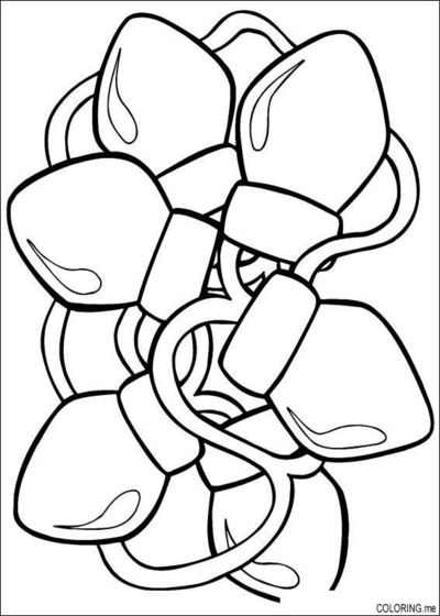 Christmas Lights Coloring Page christmas xmas ideas Juxtapost