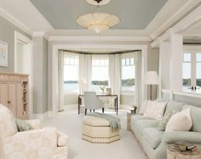 Tray Ceiling Paint- Benjamin Moore Revere Pewter On Walls An
