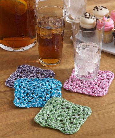 Coaster Quartet Free Crochet Pattern From Aunt Lydias C