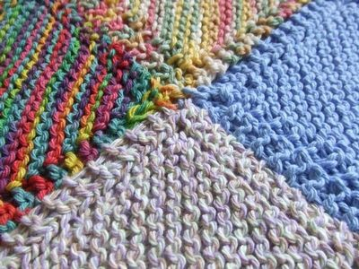 Knitting Pattern For A Patchwork Blanket : A Simple Knitted Patchwork Blanket for Beginners - Fiona Rya... / crochet ide...