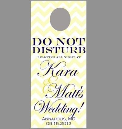 Chevron Wedding Do Not Disturb Sign Door Hanger : Diy Printa