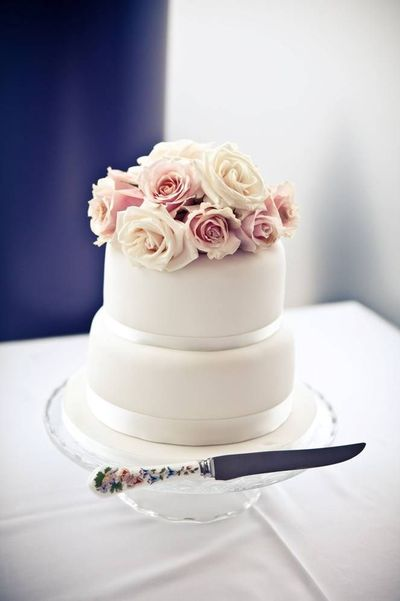 blush wedding cake idea