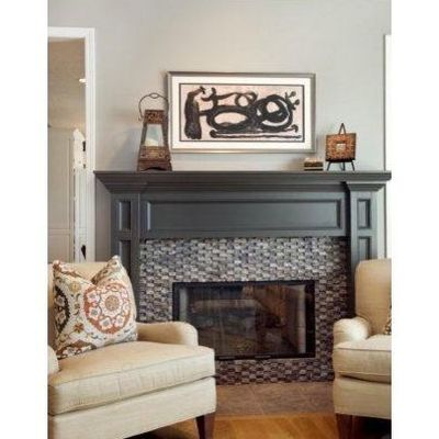 Fireplace Is Sherwin Williams Black Fox Satin Sheen Oil