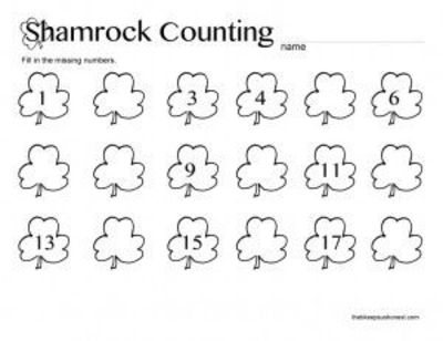 st patricks day coloring pages high school | St. Patrick's Day Preschool Printable Math Worksheets ...