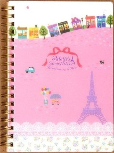 936a8a857 cute pink Paris ring binder notebook with Eiffel Tower by Sa ...