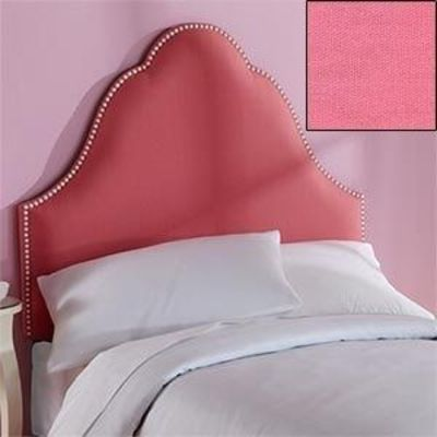 bella twin headboard upholstered pink headboard with white n, Headboard designs