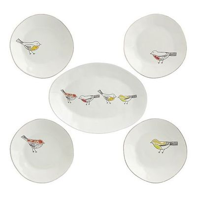 Chickadee Yellow 8.25  Plate in Dinner Plates | Crate and Barrel  sc 1 st  Juxtapost & Chickadee Yellow 8.25