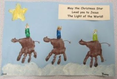 Three Wise Men Handprints. How adorable is this????