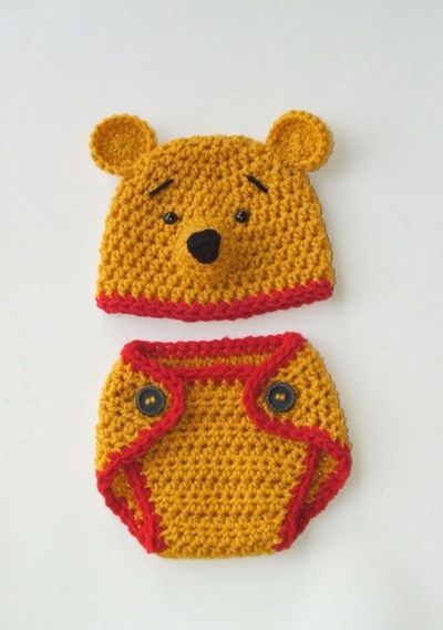 Winnie the Pooh Baby outfit   crochet ideas and tips - Juxtapost 22d3467c2