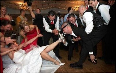 fun bride with bridesmaids picture | ... funny wedding photo ...