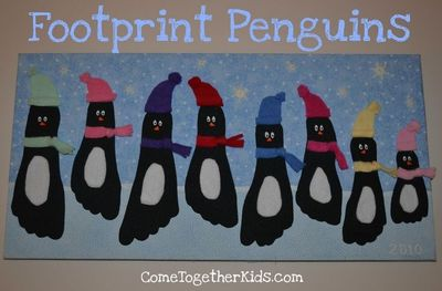 Penguin Christmas Cards Footprint.Footprint Penguins Would Be Cute For Christmas Cards Too