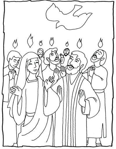 Pentecost - several coloring pages - great ideas / Preschool items ...