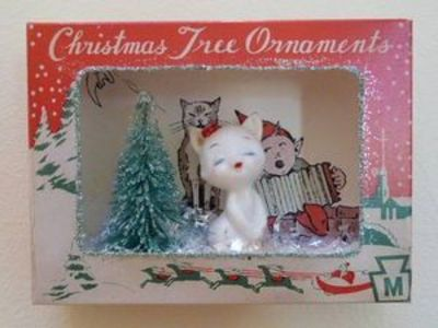 vintage christmas ornament shadow box now on ebay