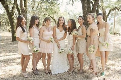 Need Suggestions - Beige Mismatched Bridesmaids — The Knot