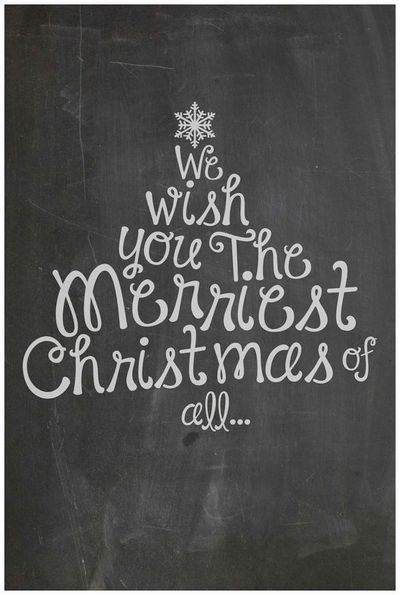 Simply Ciani: FREE Christmas Chalkboard Printable - made by ...