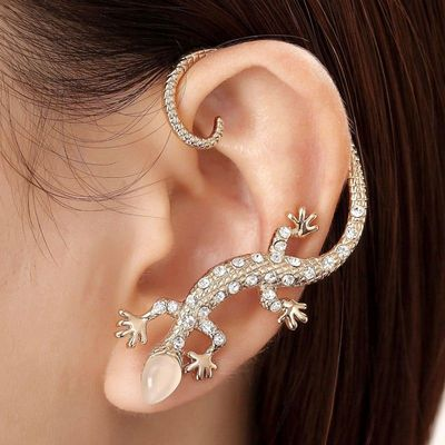 Gecko Cartilage Wrap Earring This Pierced Ear Features A Small Design Decorated With