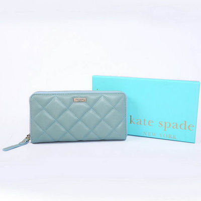 Kate Spade Gold Coast Lacey Leather Zip Around Wallet Blue