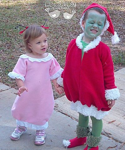 The grinch and cindy lou who 2012 halloween costume contes