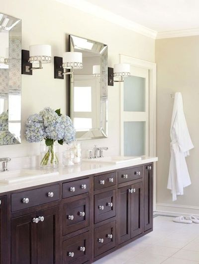 bathrooms - Sherwin Williams - Wool Skein - Pottery Barn Bev... / bath ...