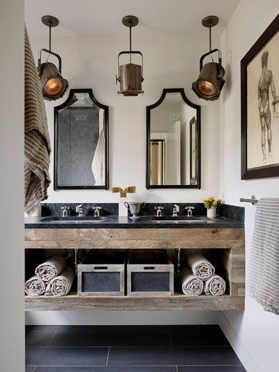 rustic bathroom industrial ceiling lights bath ideas juxtapost. Black Bedroom Furniture Sets. Home Design Ideas