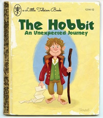 Have you ever wondered what The Hobbit would look like if it were one of those Little Golden Books? Illustrator Rosemary Travale has.