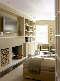 fireplace and tv built-in