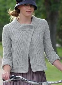 Free Knitting Patterns For Jackets : free knitting pattern The Pan-Am Jacket - Knitting Daily / knits and kits - J...