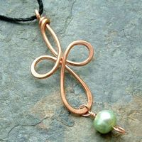 Celtic Cross Pendant with Pearl