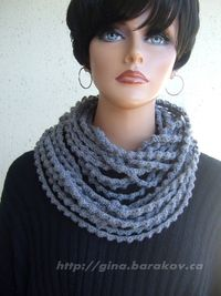 Infinity Crochet Scarf Necklace Neck Warmer All Seasons Accessory. $59.00, via Etsy.