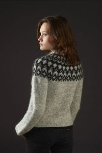 Icelandic knitted cardigan in �lafoss Lopi