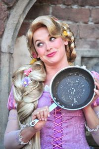 Rapunzel and her frying pan