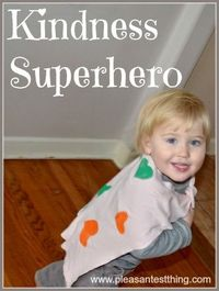 """How do you encourage acts of kindness with your kids? We made capes and became """"kindness superheroes."""""""