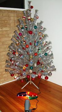Aluminum tree and a color wheel