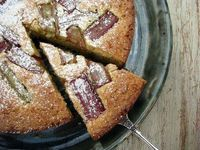 ++ rhubarb . lemon & almond cake #glutenfree