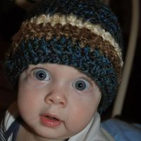 Austen loves this warm hat!!! Easy Crochetted Hat from The Martens House on Wordpress