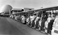Tram to EPCOT #WDW