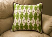 from the blue chair: Argyle Pillow