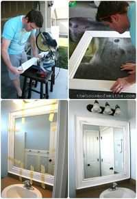 baseboard molding for mirror frame