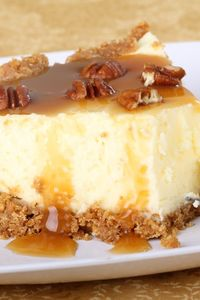 Aunt Peggy's Cheesecake with Praline Topping #Dessert #Recipe