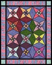 Stained Glass Star Free Quilt Pattern