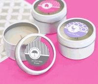 MOD Pattern Baby Round Candle Tin Favors