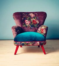 Beautiful chair | purple and blue
