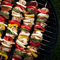 Make this colorful vegetable kabob--and everything else you grill--taste even better with these 17 BBQ tricks: http://www.womenshealthmag.com/nutrition/bbq-tips