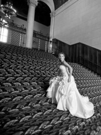 Amazing sleeveless ball gown floor-length bridal gowns