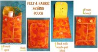 Felt & fabric sewing pouch tutorial