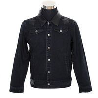 Chrome Hearts Rolling Stone Red Lips Tongue Denim Jacket
