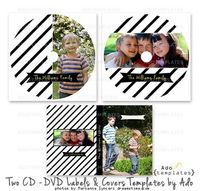 Two CD DVD Labels & Cases Templates All occasion by AdoTemplates, $3.50