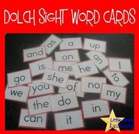 Little Stars Learning: Dolch Sight Word Cards - FREE