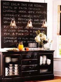 I like this idea... I think I'd want a different color for the chalkboard paint though.